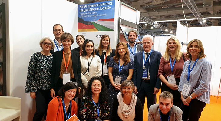 German and Italian Vocational Education and Training Engage in Networking at the 2019 didacta Italia